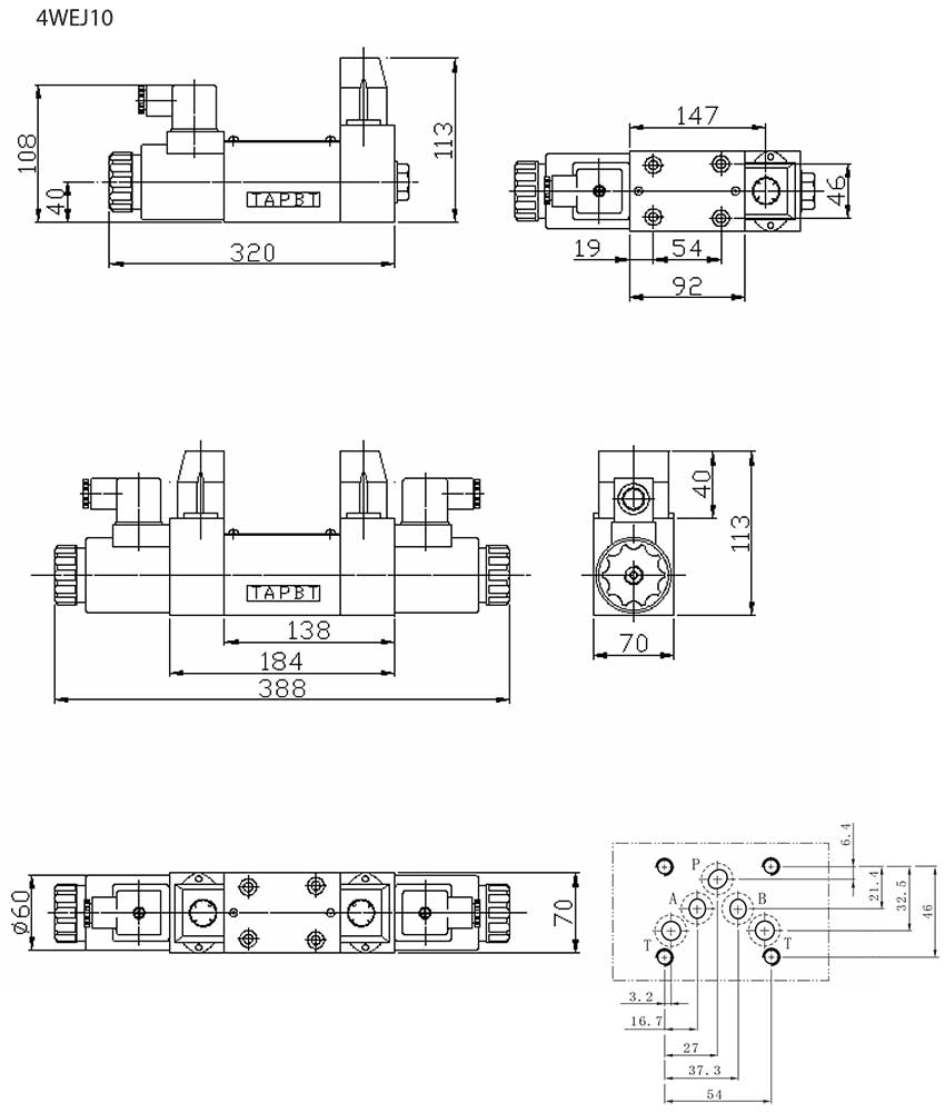 4WEJ-series-solenoid-directional-control-valves-Dimensions2