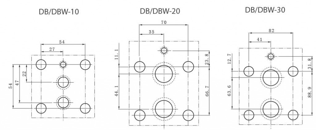 DB-series-pilot-operated-relief-valves-Mounting-size-TORK-HYDRAULICS-ترک-هیدرولیک