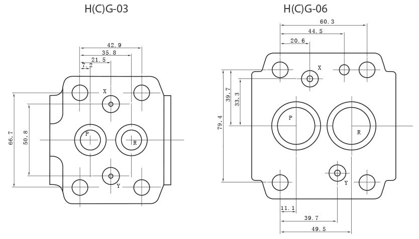 H(C)G-series-sequence-counter-balance-unloading-valves-Mounting-size-tork-hydraulics-ترک-هیدرولیک