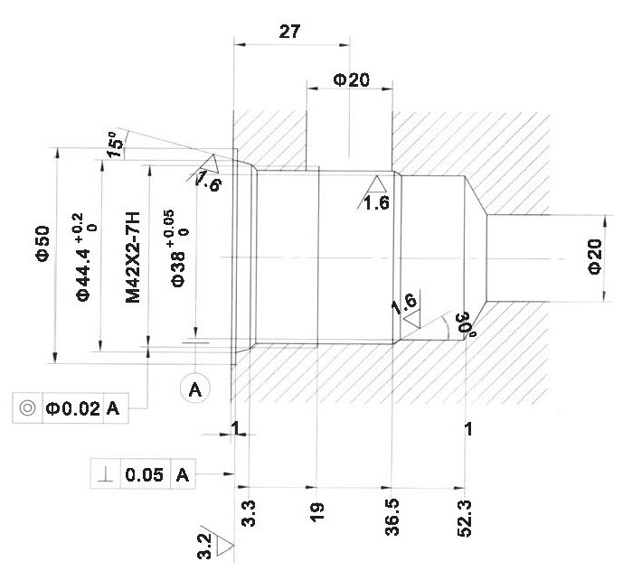 LT LTC series flow control valves LTC16-00-00 cavity dimensions torkhydraulics