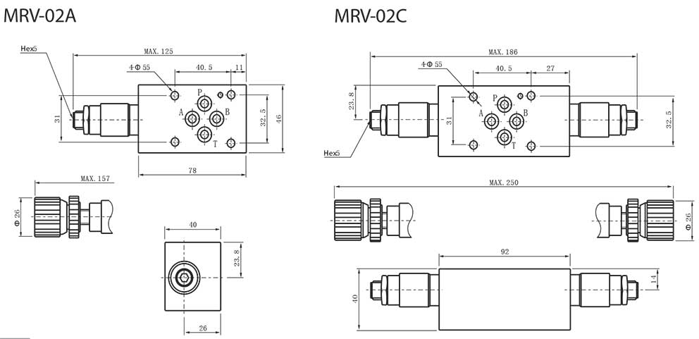 MRV-series-modular-relief-valves-Dimensions1