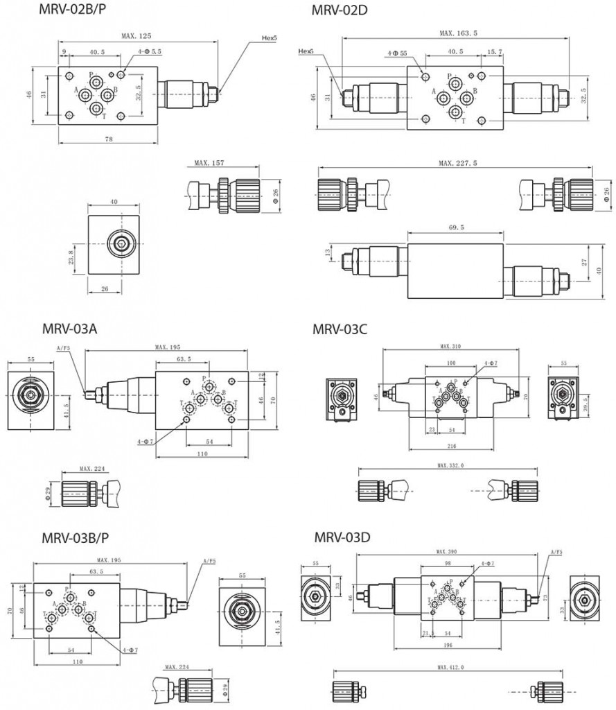 MRV-series-modular-relief-valves-Dimensions3