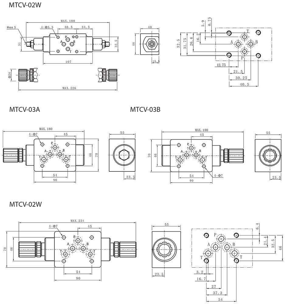 Mtcv series modular throttle check valves tork hydraulics mtcv series modular throttle check valves dimensions2 biocorpaavc