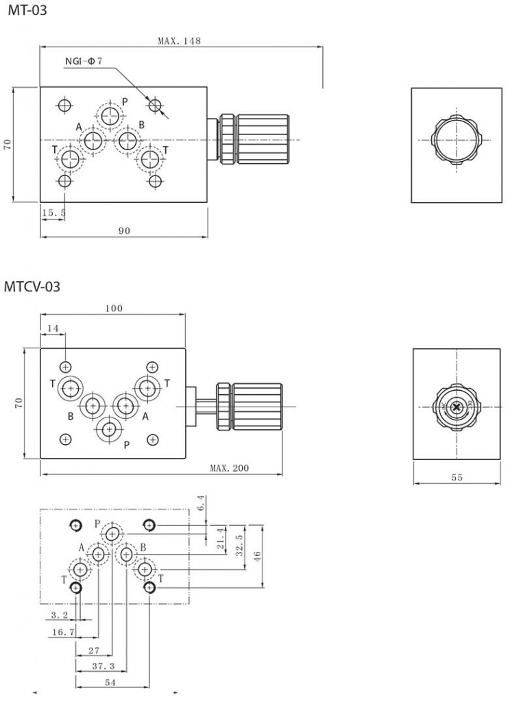 MT(CV)-series-modular-throttle-(check)-valves-Dimensions2