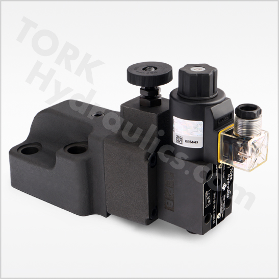 SRVG series solenoid operated relief valves tork hydraulics