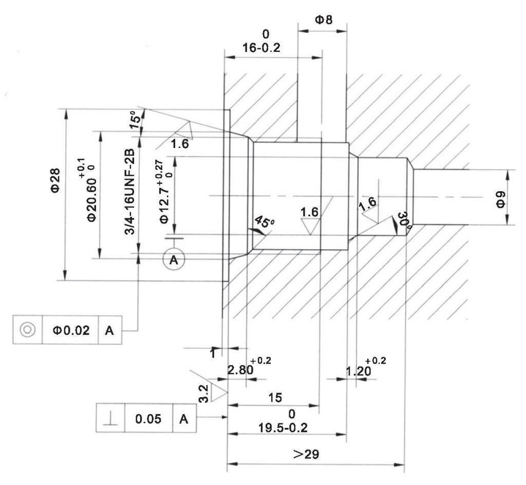 LCV06-01-00 cavity dimensions torkhydraulics
