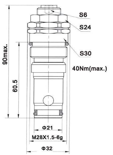 LR25-01-00 dimensions torkhydraulics