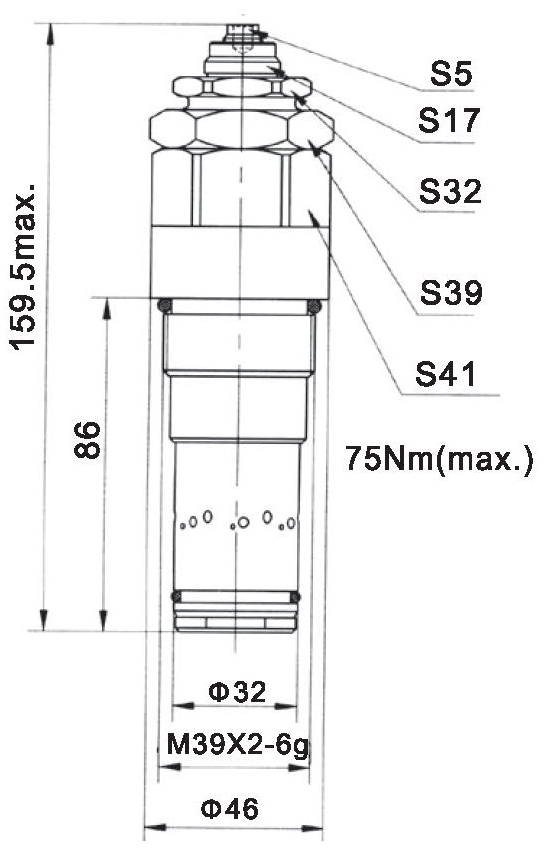 LR32-01-00 dimensions torkhydraulics