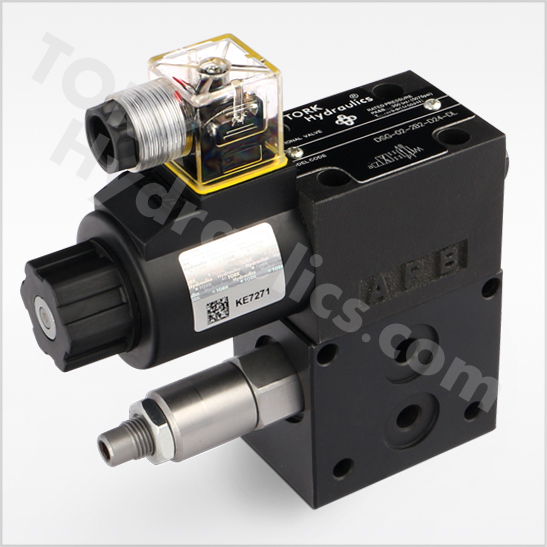 DL4WE series solenoid operated relief valves torkhydraulics